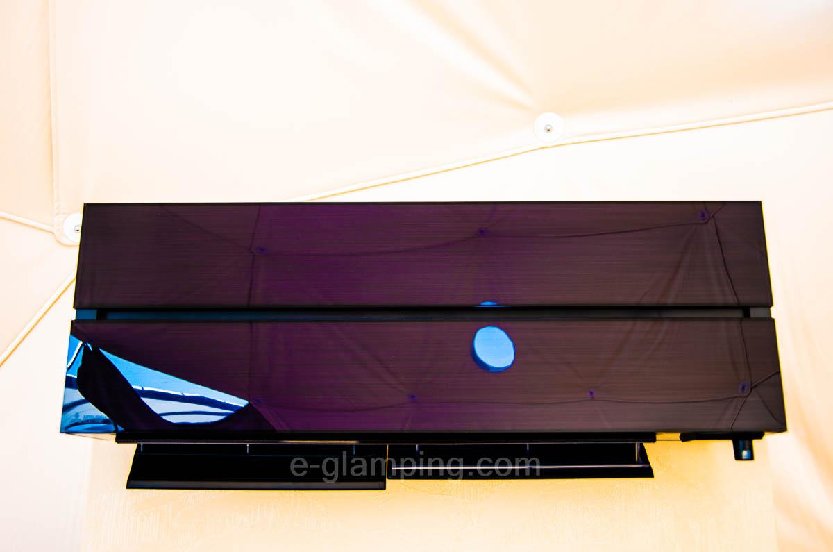 京都瑠璃浜グランドーム天橋立のテント内にはクーラーがあり超快適