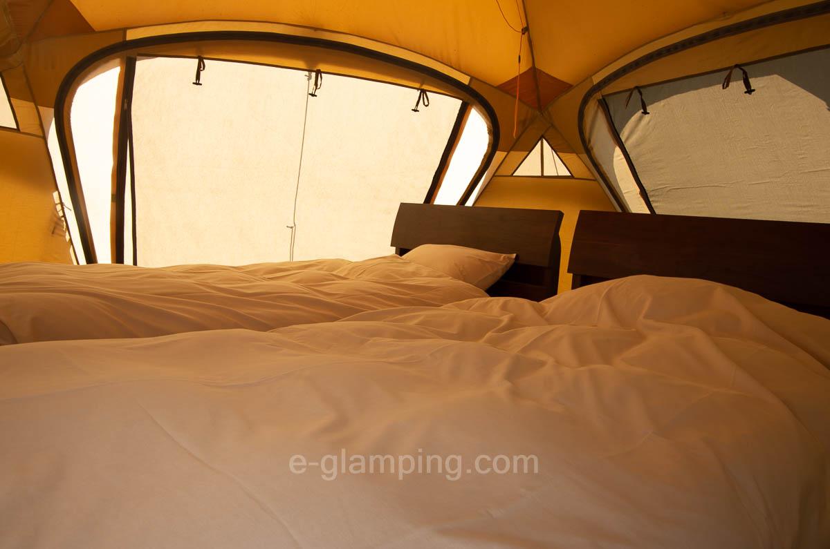 トリプルベースの子供テント