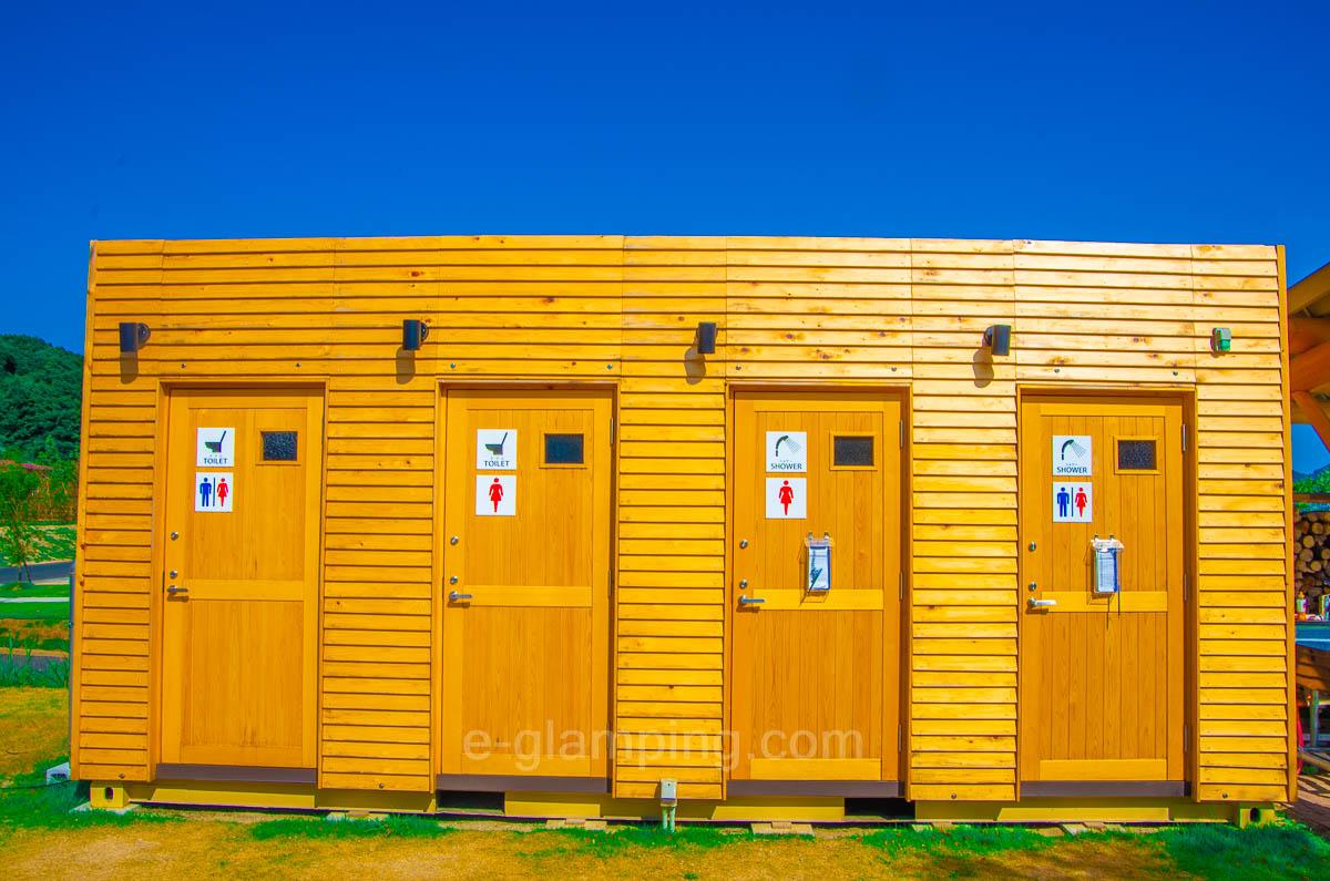 京都瑠璃浜グランドーム天橋立はトイレやシャワールームが綺麗