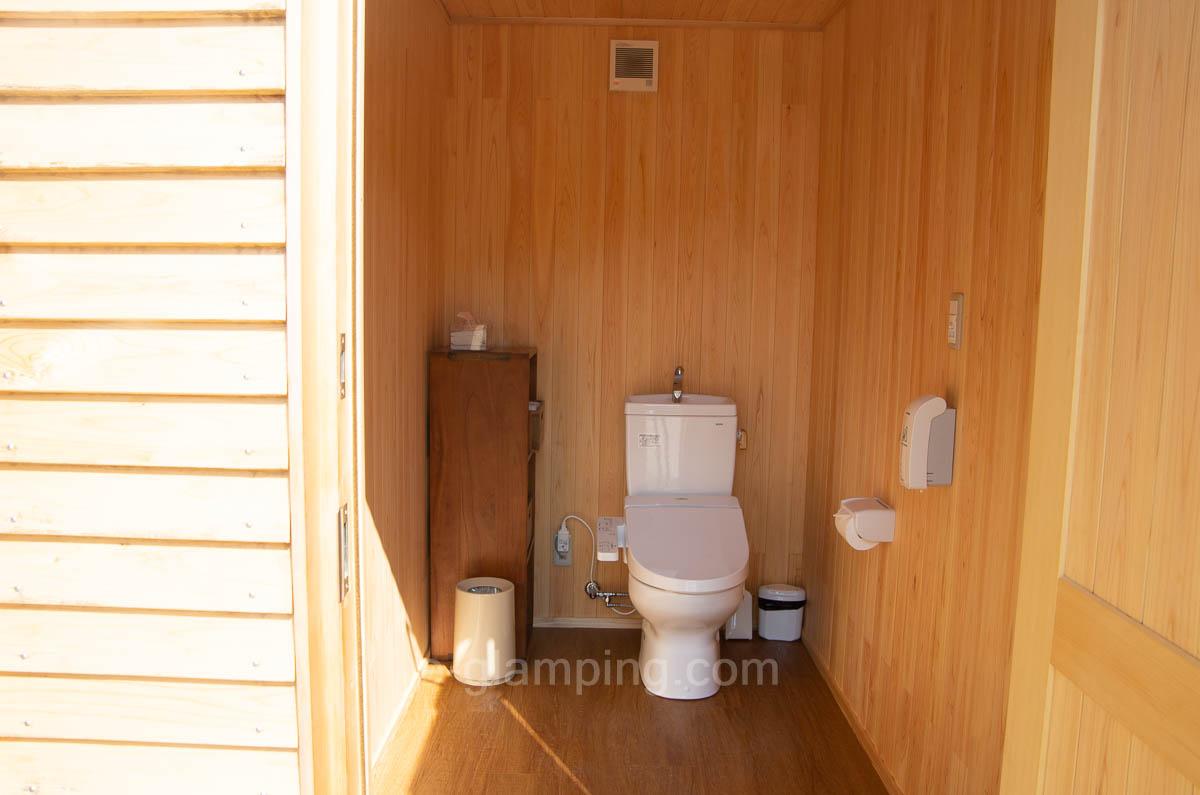 京都瑠璃浜グランドーム天橋立ではトイレもピカピカ