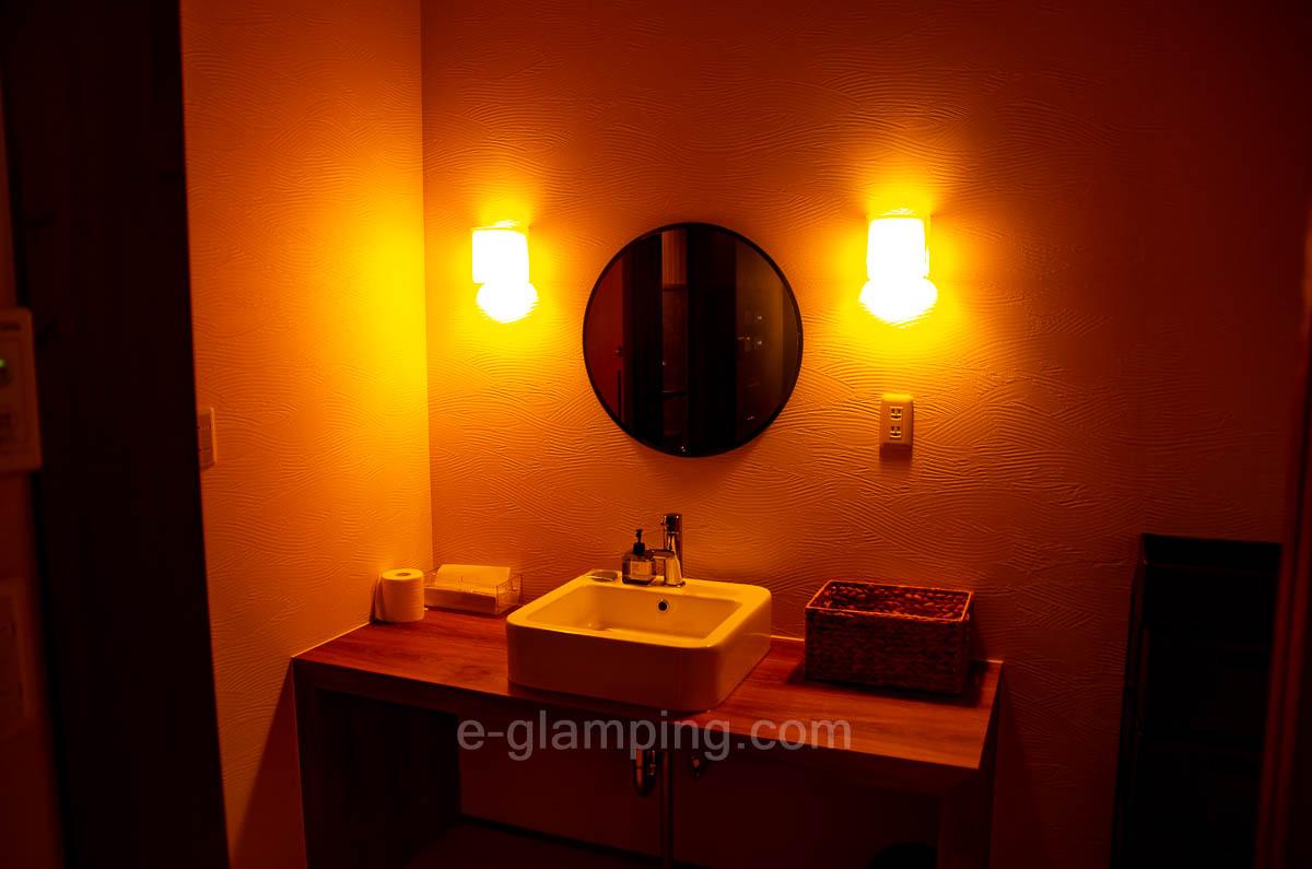 京都瑠璃浜グランドーム天橋立の温泉場の洗面所の画像