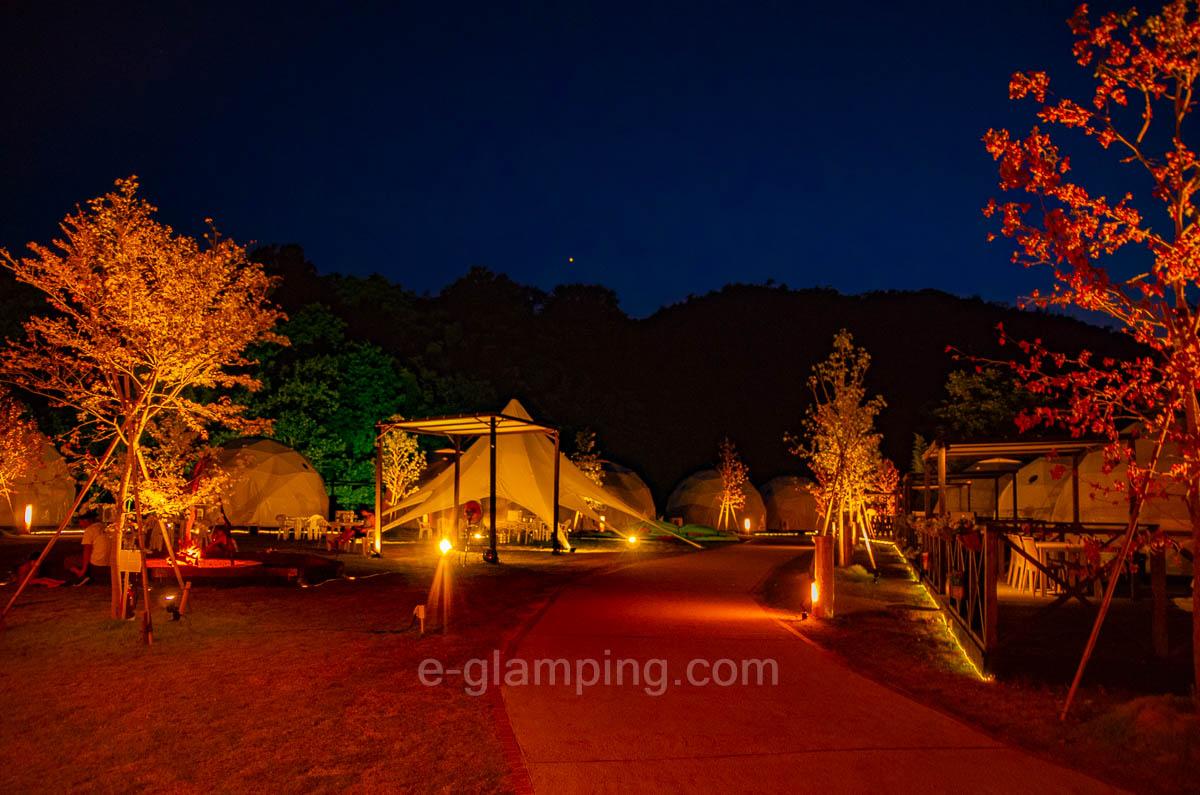 京都瑠璃浜グランドーム天橋立は夜のライトアップがとてもおすすめ