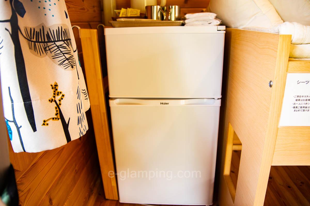 グラックスには冷蔵庫もある