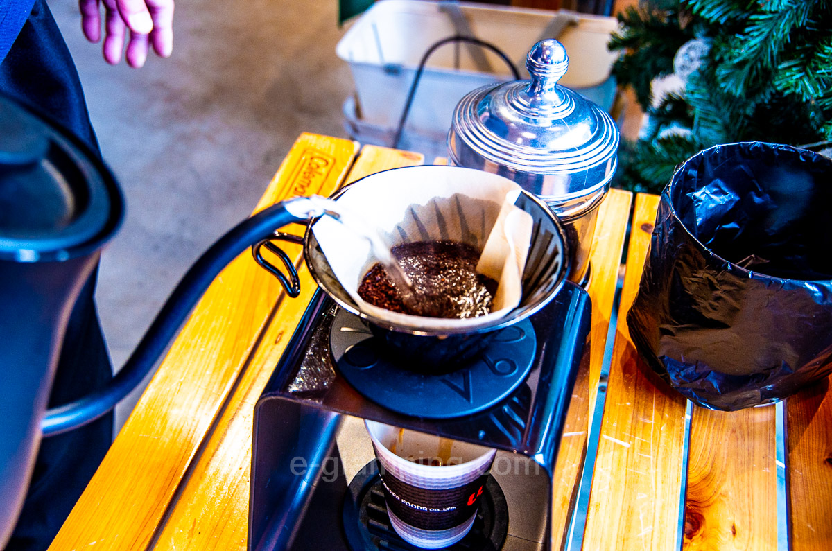 冬グランピンググラックスドリップコーヒーの淹れ方