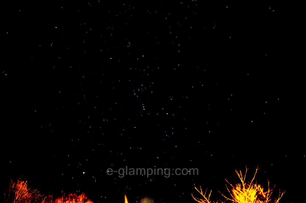 冬グランピング星空撮影